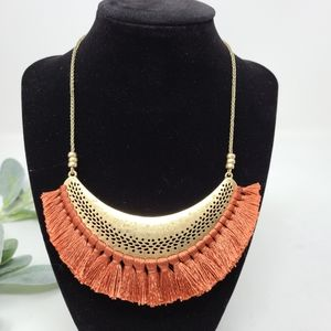 LUCKY BRAND Wide Moon Tassel Hammered Metal Copper